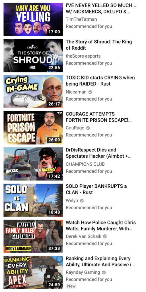 YouTube Video Titles
