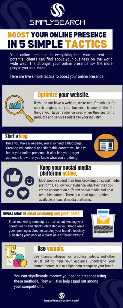 Ways to boost online presence